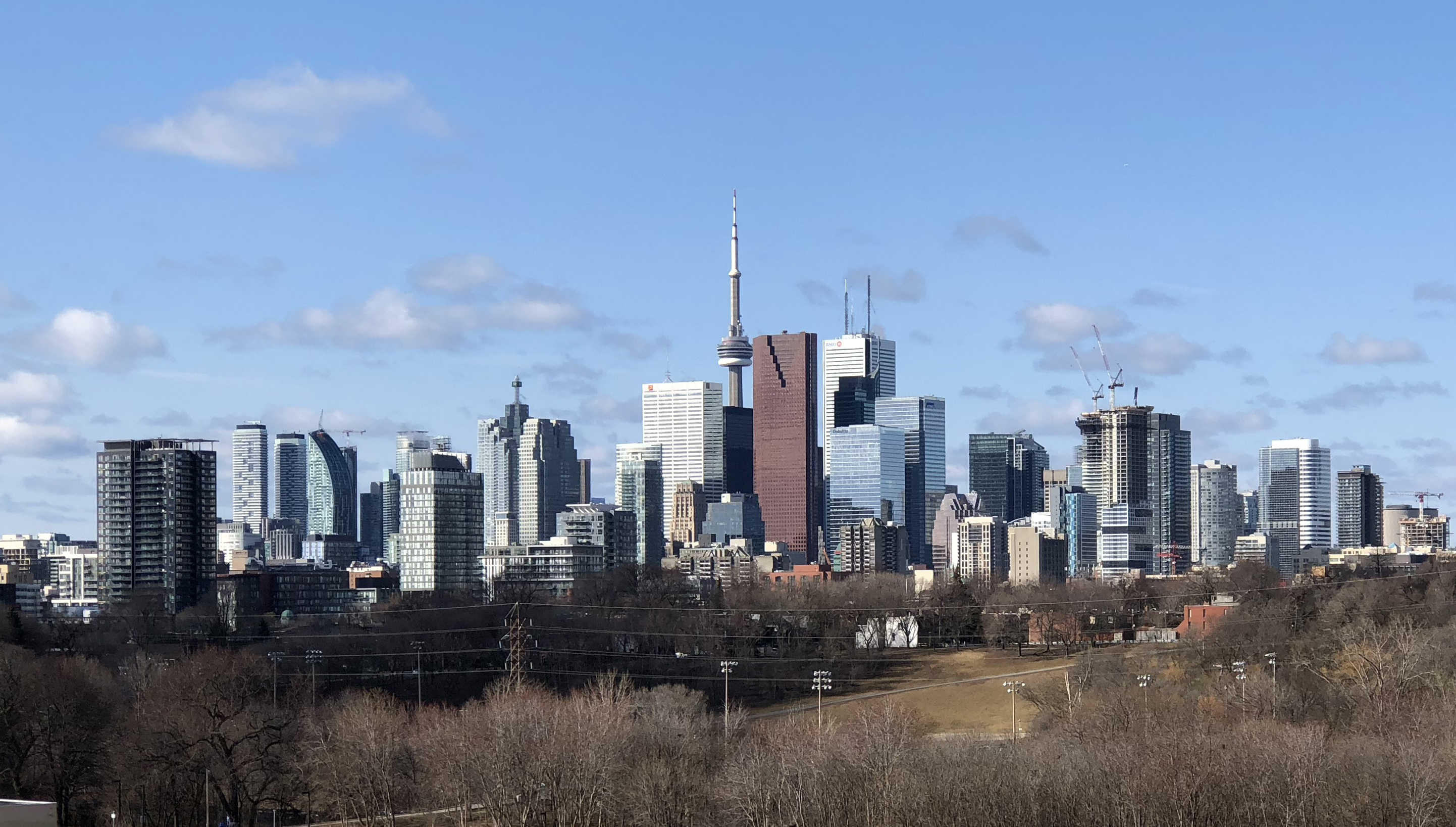 Toronto Skyline, from Riverdale Park