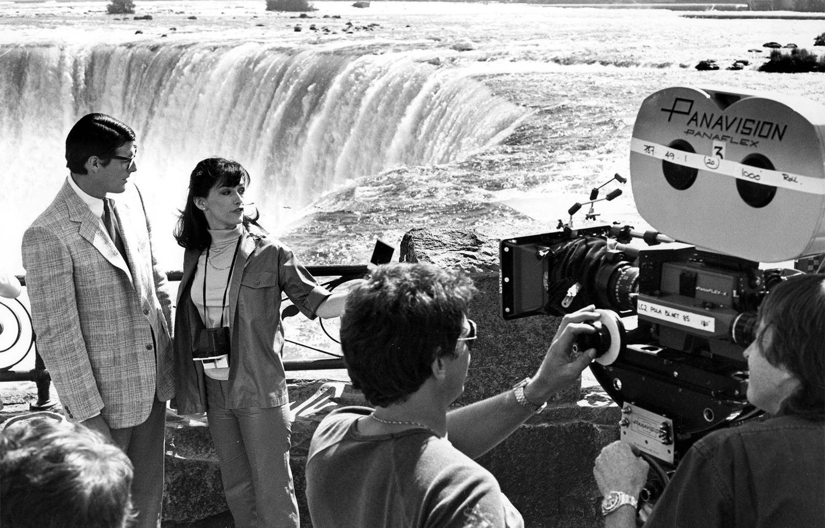 RIP Margot Kidder: Kidder and Christopher Reeve on location in Niagara Falls